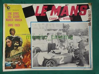 Le Mans Shortcut To Hell Racing Edwige Fenech Grand Prix Mexican Lobby Card 2