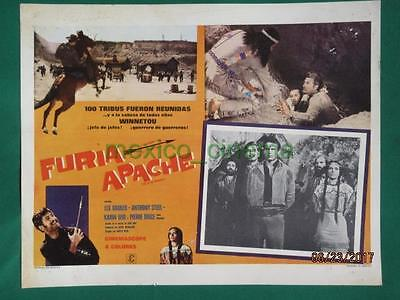 Lex Barker Last Of The Renegades Winnetou -2 Teil Western Mexican Lobby Card 8