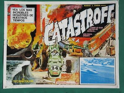 Catastrophe Racing Cars Documentary Zeppelin Disaster Mexican Lobby Card 7