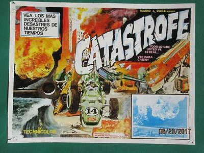 Catastrophe Racing Cars Documentary Zeppelin Disaster Mexican Lobby Card 2
