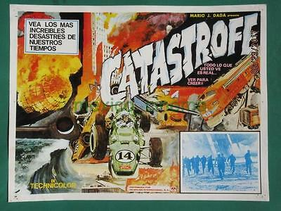 Catastrophe Racing Cars Documentary Zeppelin Disaster Mexican Lobby Card 3