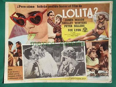 Stanley Kubrick Lolita James Mason Sue Lyon Shelley Winters Mexican Lobby Card