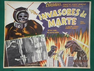 ROBOT MONSTER Sc-Fi DINOSAUR GEORGE NADER BEAUTIFUL ART ORIG MEXICAN LOBBY CARD