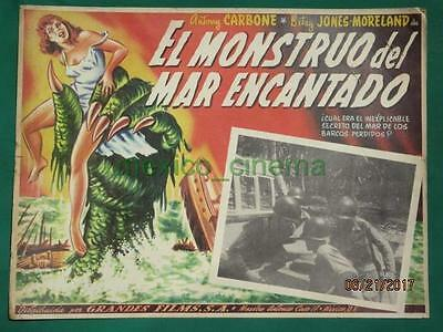 CREATURE FROM THE HAUNTED SEA Horror ROGER CORMAN MONSTER MEXICAN LOBBY CARD