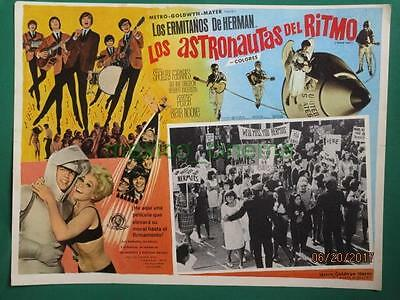 Herman's Hermits Hold On! Shelley Fabares Spaceship Spanish Mexican Lobby Card 4