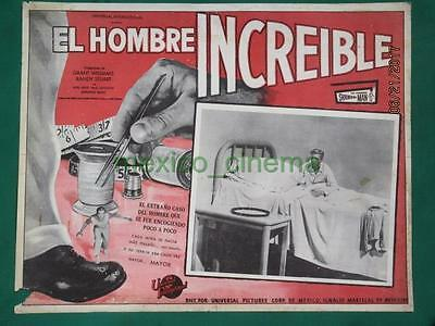 THE INCREDIBLE SHRINKING MAN Horror GRANT WILLIAMS SPANISH MEXICAN LOBBY CARD