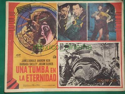 QUATERMASS AND THE PIT Horror MONSTER Hammer BARBARA SHELLEY MEXICAN LOBBY CARD