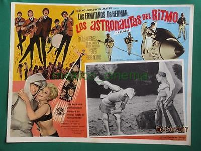 Herman's Hermits Hold On! Shelley Fabares Spaceship Spanish Mexican Lobby Card 3