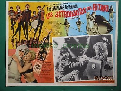 Herman's Hermits Hold On! Shelley Fabares Spaceship Spanish Mexican Lobby Card 7