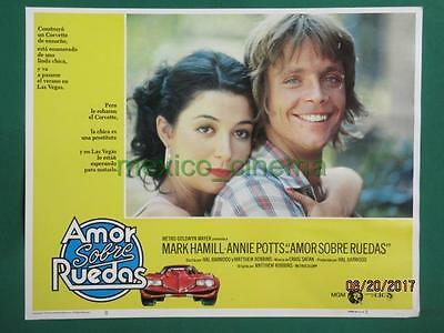 CORVETTE SUMMER MARK HAMILL No Star Wars ORIGINAL SPANISH MEXICAN LOBBY CARD 1
