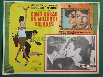 Audrey Hepburn How To Steal A Million Peter O'toole Spanish Mexican Lobby Card 2