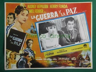 Audrey Hepburn War And Peace Henry Fonda Original Spanish Mexican Lobby Card 3