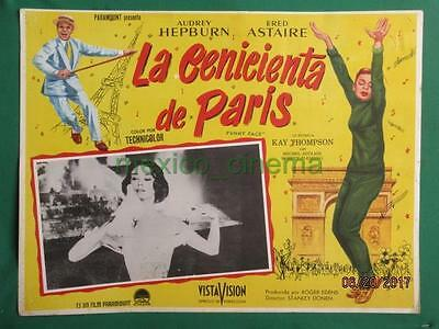 Audrey Hepburn Funny Face Fred Astaire Beautiful Art Orig Mexican Lobby Card 3