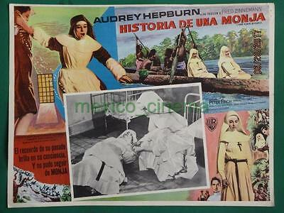 Audrey Hepburn The Nun's Story Peter Finch Original Spanish Mexican Lobby Card 1