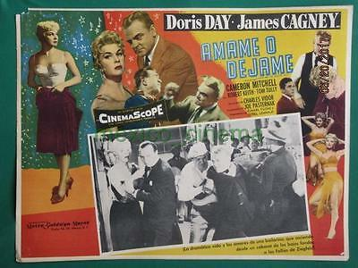JAMES CAGNEY DORIS DAY LOVE ME OR LEAVE ME Ruth Etting MEXICAN LOBBY CARD 2