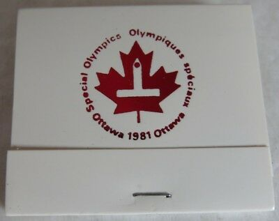 1981 Unused Special Olympics Ottawa Red Foil Matchbook             (Inv13623)