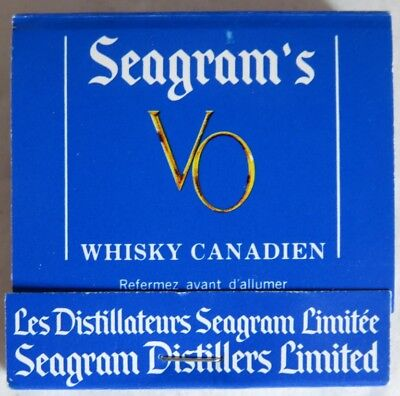 Vintage Seagram's Vo Whiskey Matchbook                 (Inv13625)