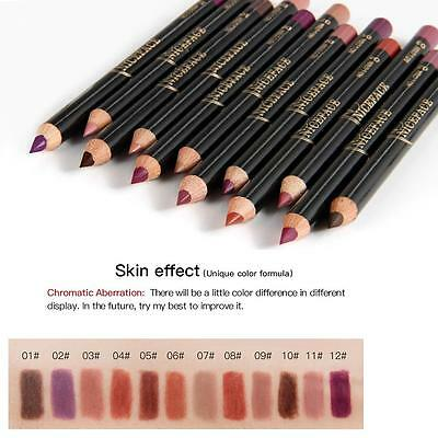 12Pcs/Set Lip Liner Pencil Pencils For Lips Lipliner Contour Nude Reliable US