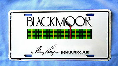 Blackmoor-Gary Player Signature Golf Course-Embossed Metal License Plate-New