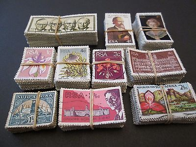 SOUTH AFRICA X 1000 USED STAMPS aprox. 10 BUNDLES X 100.  SALE  #T004