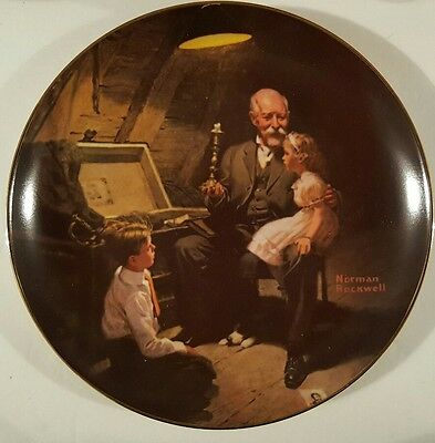 """Norman Rockwell """"Grandpa's Treasure Chest"""" 2nd Plate in the Limited edition"""