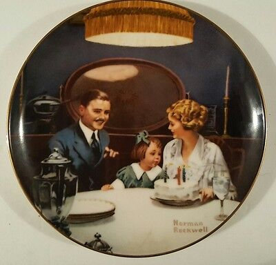 """Norman Rockwell """"The Birthday Wish"""" Only Limited Edition"""