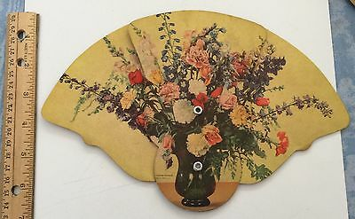 VINTAGE ADVERTISING FAN Lechich Florists Miami FL  Flowers