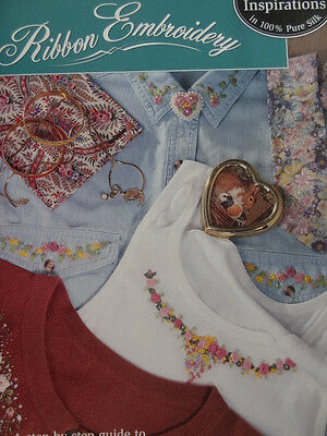 Ribbon Embroidery Step by Step guide by Bucilla V.G.condition