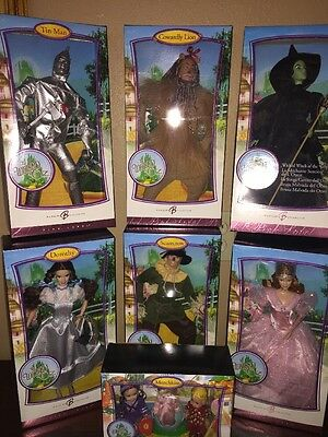 THE WIZARD OF OZ .BARBIE COLLECTION 2006 SET OF 7 Pink Label