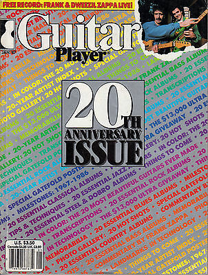 Guitar Player Magazine January 1987 20th Anniversary Issue Frank & Dweezil Zappa