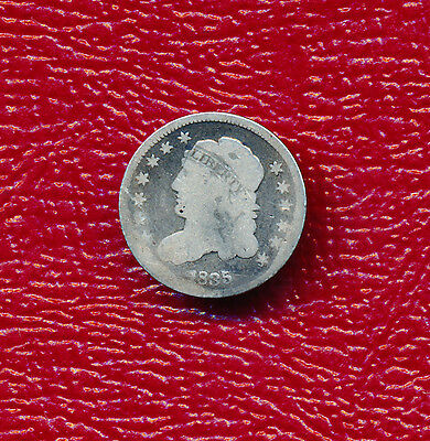 1835 Capped Bust Silver Half Dime **nice Circulated Half Dime** Free Shipping!