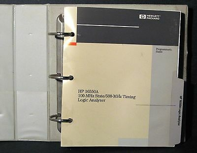 Agilent HP 16550A State / Logic Analyzer Programmer's Manual 1993 16522-97000