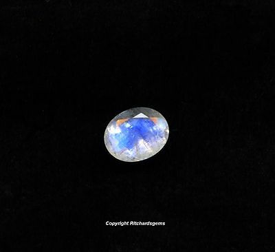 AAA Semi Precious 10x8 mm Faceted Oval Cut Rainbow Moonstone for One~SALE~