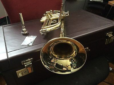PLAYS GREAT!  L BORE MINT French Besson MEHA BY KANSTUL Bb Trumpet &Case Bach Mp