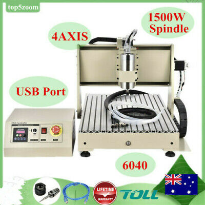 USB 4 Axis 6040 CNC Router Engraver  1.5KW VFD Engraving Mill/ Carving 3D Cutter