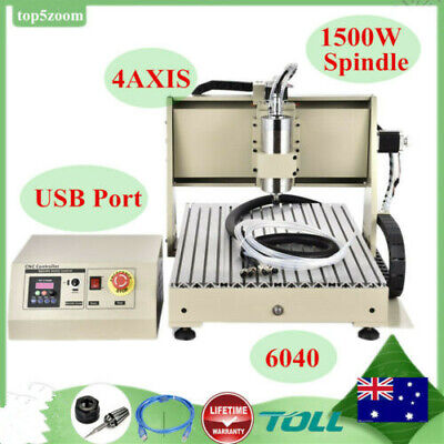 USB! CNC Router 6040 4AXIS Engraver Engraving Milling Carving Tool 1500W Spindle