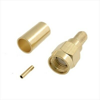 011RP SMA female stright crimp connector for RG58 cable reverse pin