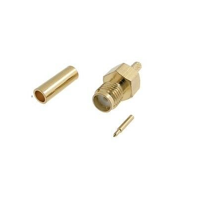 014RP SMA male stright crimp connector for RG174 cable reverse pin