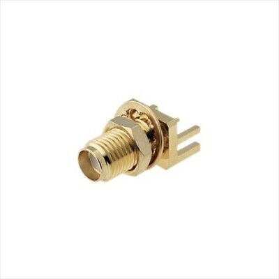 SMA socket stright female SMT mount with nut SMA-16