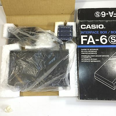 CASIO FA-6 Interfase Box. Cassette, Printer and RS-232C interfase. New Old Stock