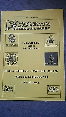 Boston United v Newcastle United 03/04