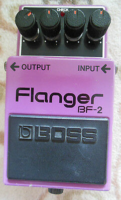 Boss BF-2 Flanger Guitar Effect Pedal made in japan