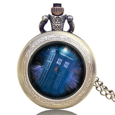 Doctor Who TV Series Alloy Quartz Pocket Watches Cosplay Necklace Pendant Chain