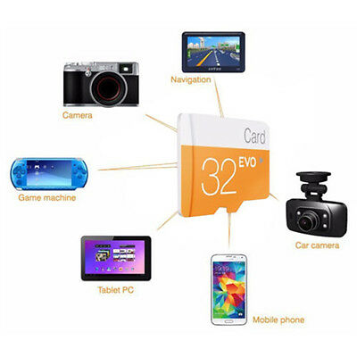 32GB MicroSD Class 6 TF Flash Memory Card w/ SD Adapter For Mobile Phone Camera