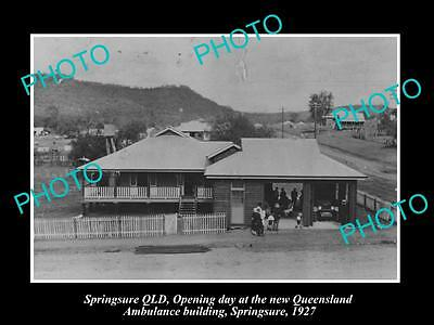 Old Large Historic Photo Of Springsure Queensland, The Ambulance Station 1927