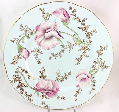 Set 11 Antique Dinner Plates Hand Painted Artist P. Simpson Coalport Bone China