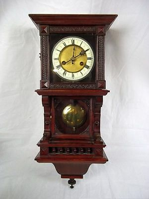c1900 German Cased Wall Clock