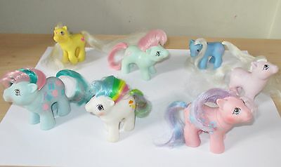 Vintage Bundle Of Baby My Little Ponies/pony, Blossom, Cuddles, Glow Summer Wing