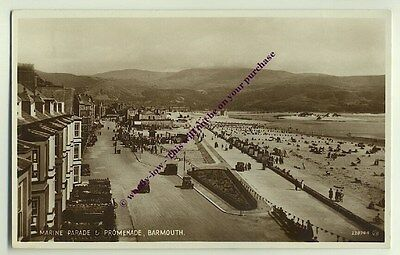 tp1022 - Marine Parade , Barmouth , Merionethshire , Wales - postcard