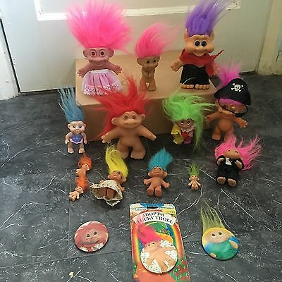 large vintage troll Bundle - Collection X 16 - Russ Rare Coloured